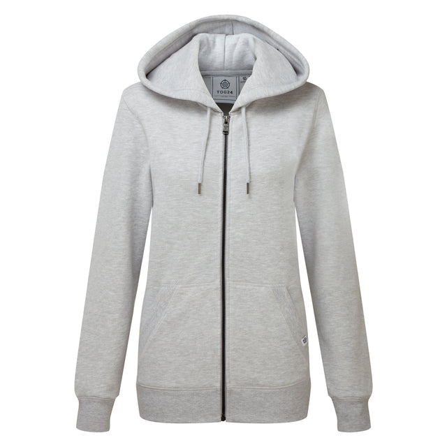 Esme Womens Zip Sweat - Light Grey Marl image 3