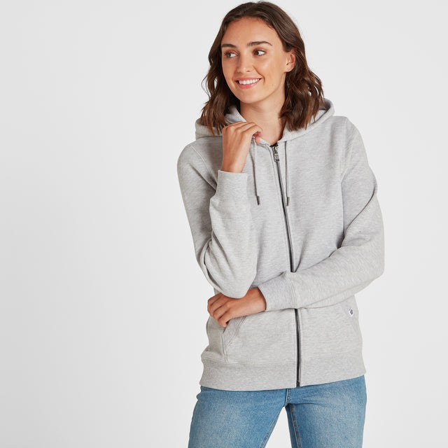 Esme Womens Zip Sweat - Light Grey Marl image 1