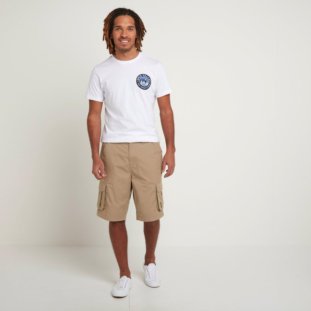 Farrow Mens Cargo Shorts - Sand image 4