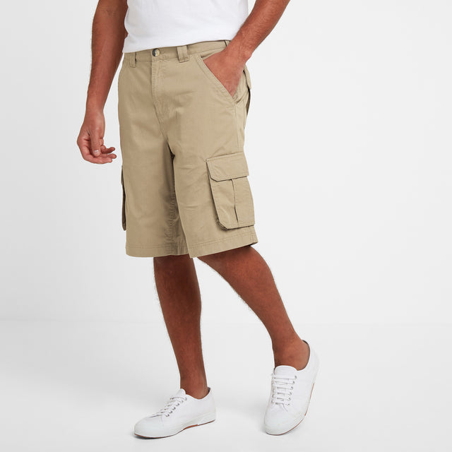 Farrow Mens Cargo Shorts - Sand image 2