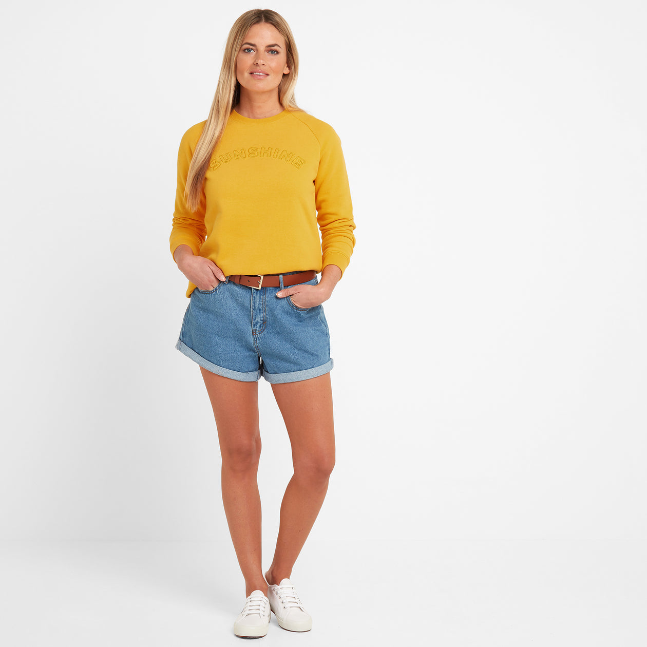 Faye Womens Crew Sweat - Sun Yellow image 4