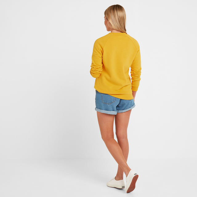 Faye Womens Crew Sweat - Sun Yellow image 2
