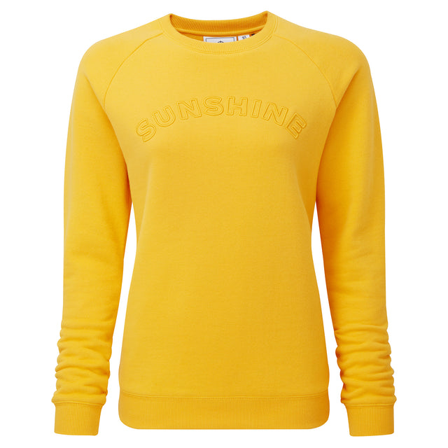Faye Womens Crew Sweat - Sun Yellow image 3