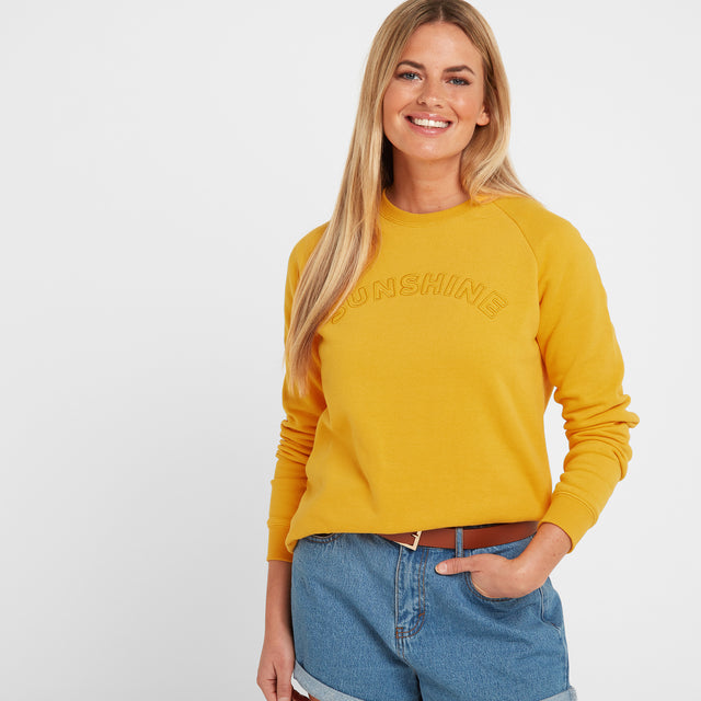 Faye Womens Crew Sweat - Sun Yellow image 1