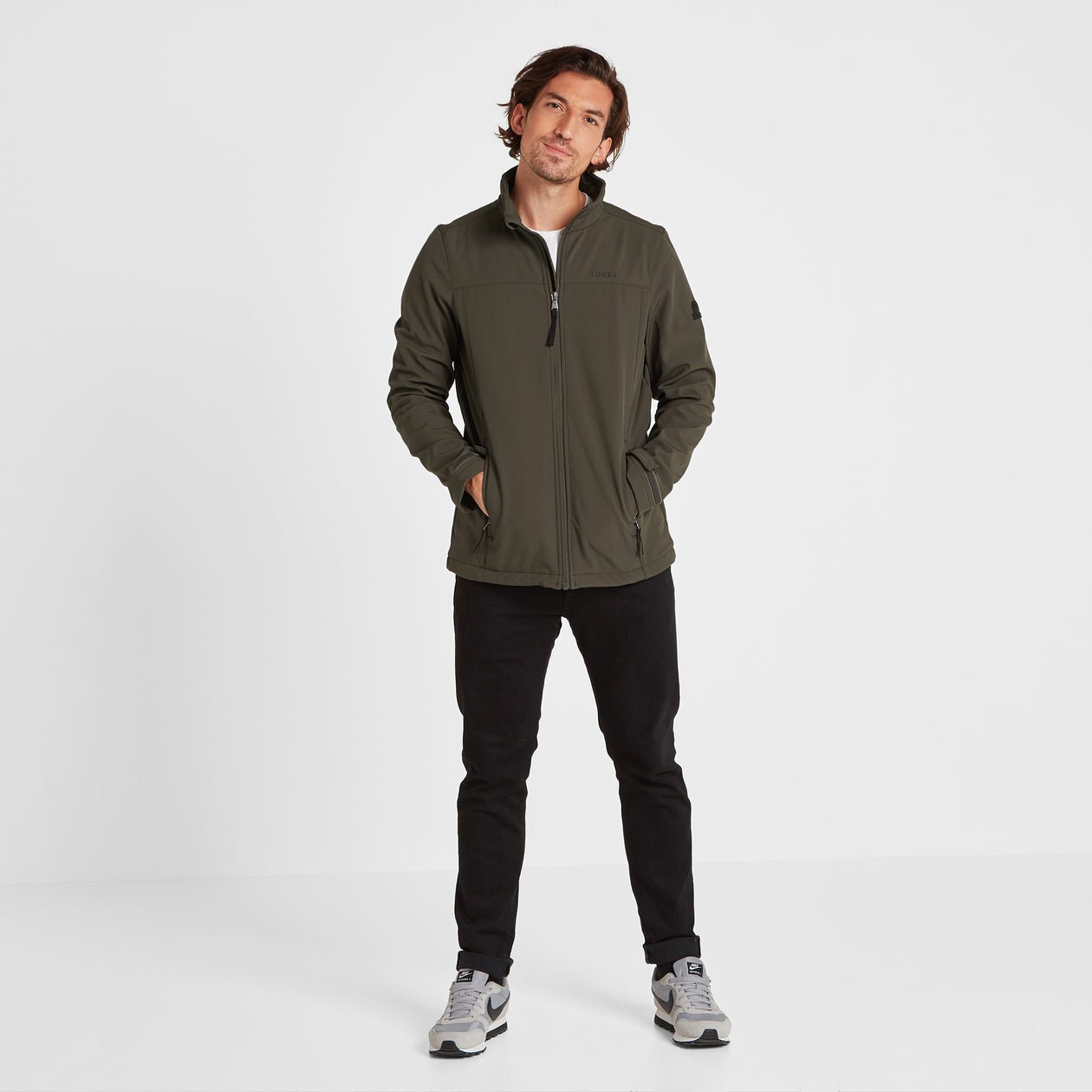 Feizor Mens Softshell Jacket - Dark Khaki image 4