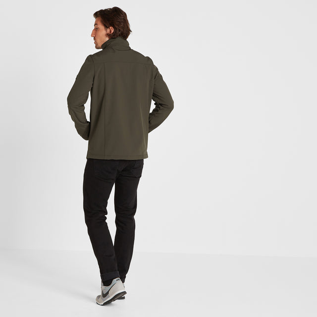 Feizor Mens Softshell Jacket - Dark Khaki image 2