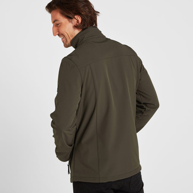 Feizor Mens Softshell Jacket - Dark Khaki image 3