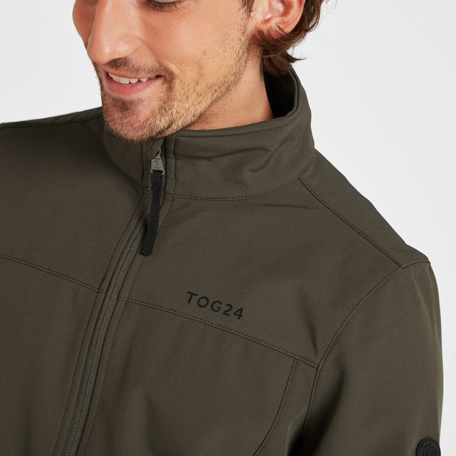 Feizor Mens Softshell Jacket - Dark Khaki image 5
