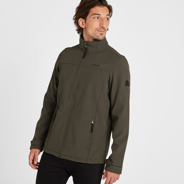 Feizor Mens Softshell Jacket - Dark Khaki image 1