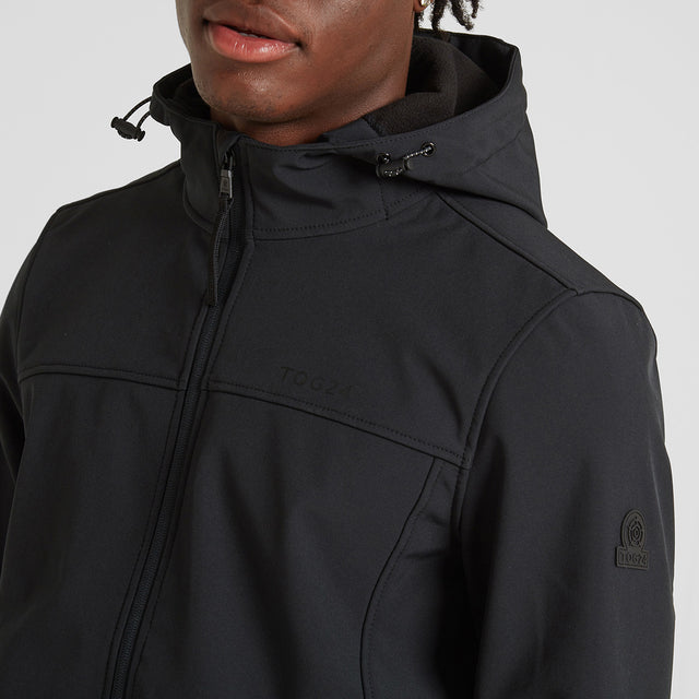 Feizor Mens Softshell Hooded Jacket - Black image 3