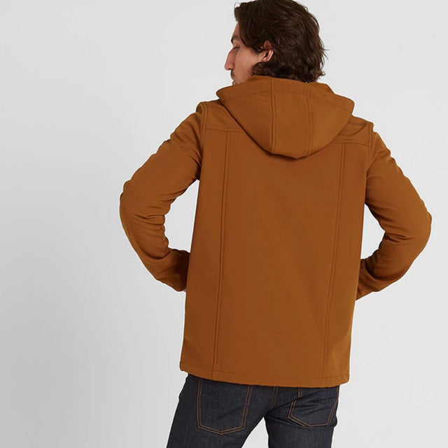 Feizor Mens Softshell Hooded Jacket  - Amber image 2