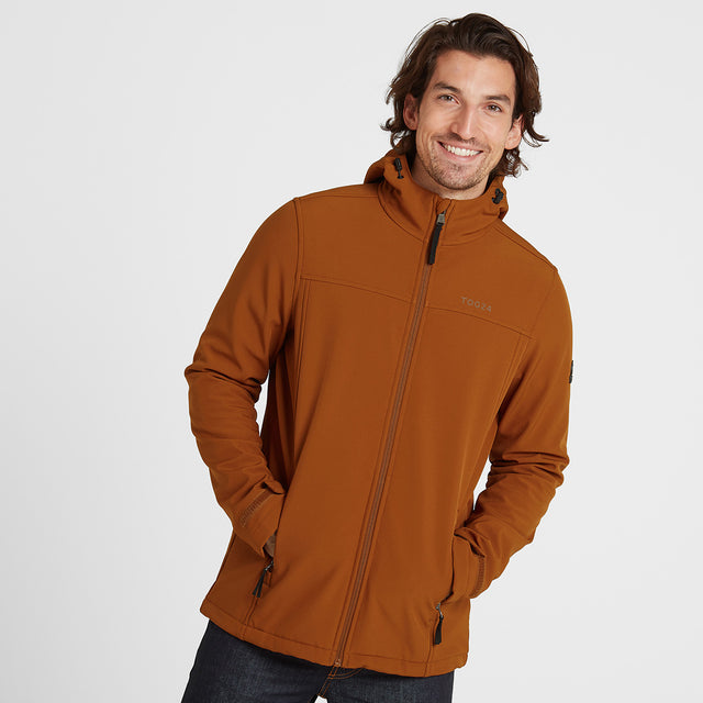 Feizor Mens Softshell Hooded Jacket  - Amber image 1