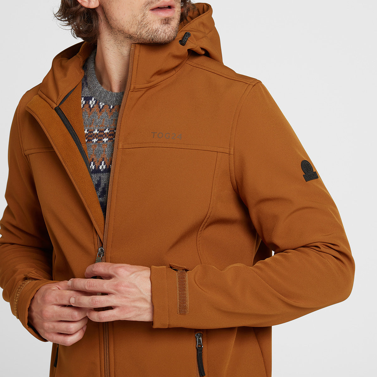 Feizor Mens Softshell Hooded Jacket  - Amber image 4