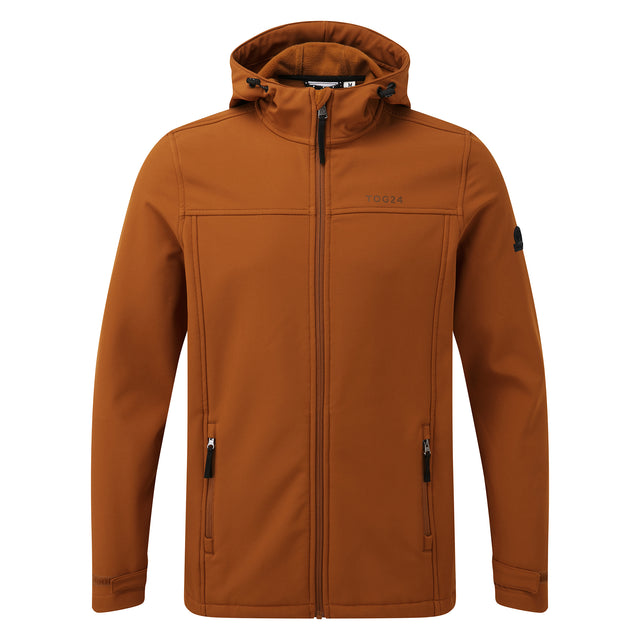 Feizor Mens Softshell Hooded Jacket  - Amber image 5
