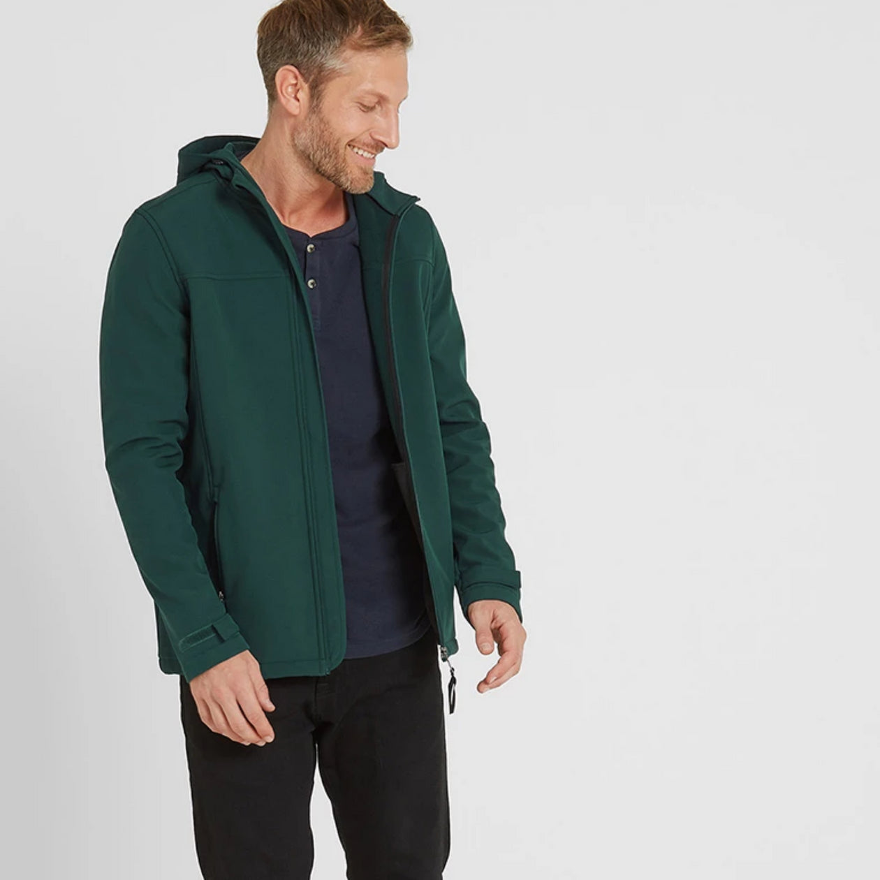 Feizor Mens Softshell Hooded Jacket - Forest image 4