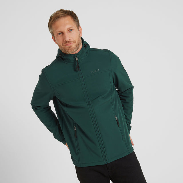 Feizor Mens Softshell Hooded Jacket - Forest image 1