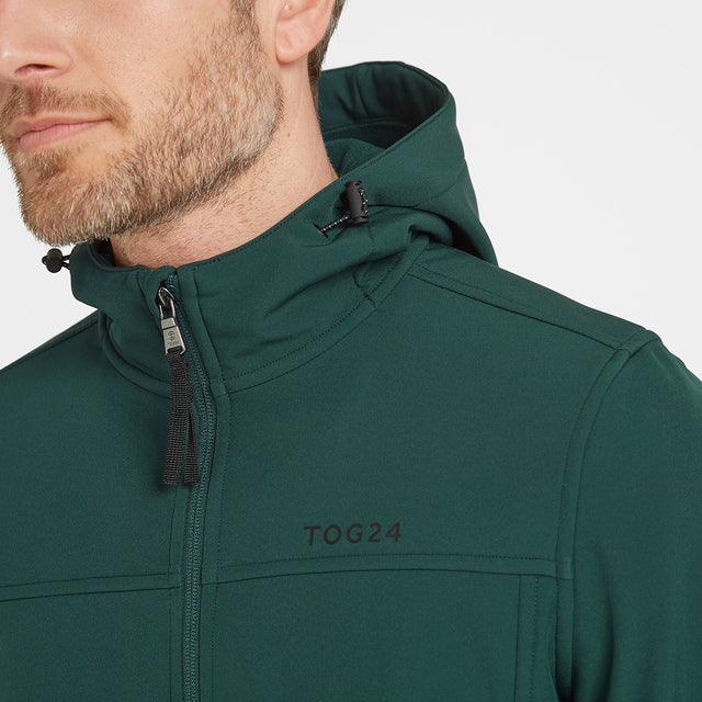 Feizor Mens Softshell Hooded Jacket - Forest image 3