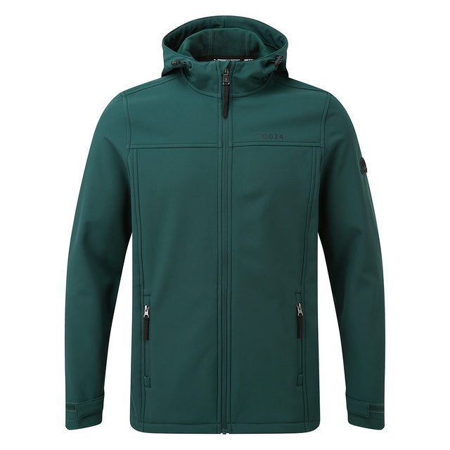 Feizor Mens Softshell Hooded Jacket - Forest image 5
