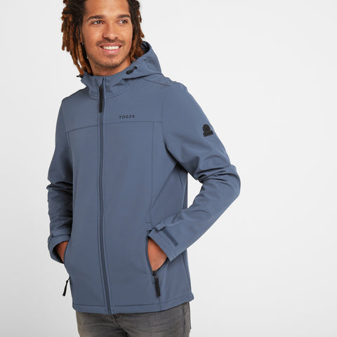 Feizor Mens Softshell Hooded Jacket - Denim