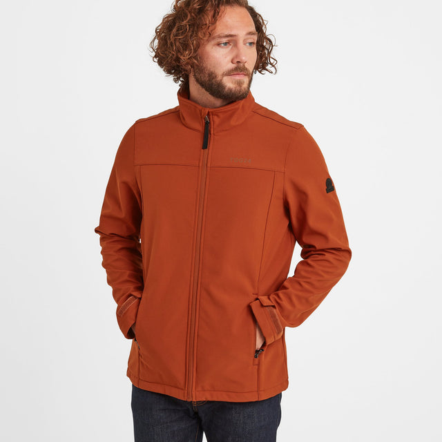 Feizor Mens Softshell Jacket - Burnt Orange image 1