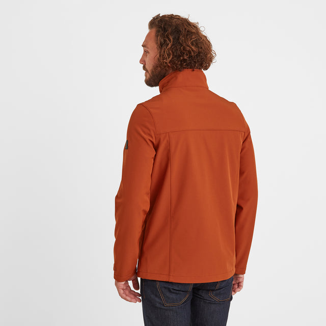 Feizor Mens Softshell Jacket - Burnt Orange image 2