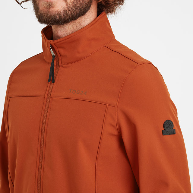 Feizor Mens Softshell Jacket - Burnt Orange image 5