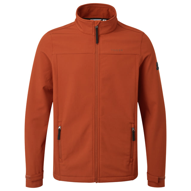 Feizor Mens Softshell Jacket - Burnt Orange image 3