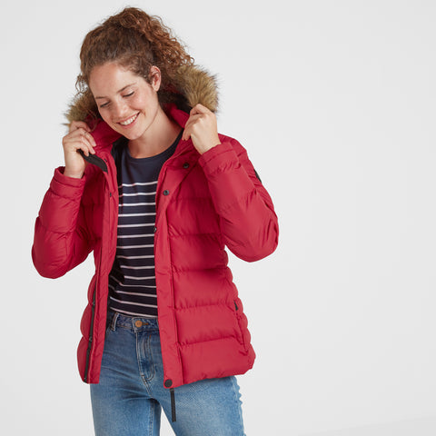 Fernsby Womens Insulated Jacket - Rouge Red
