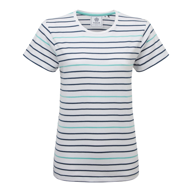 Ferriby Womens Stripe T-Shirt - Denim image 3
