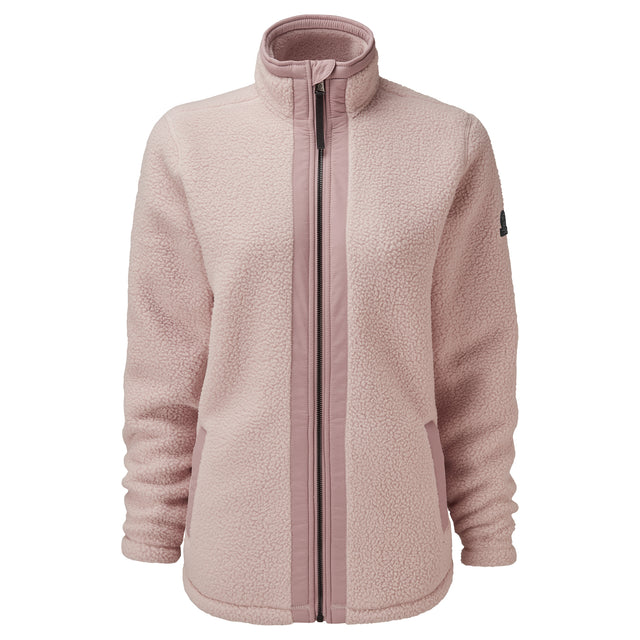 Flores Womens Sherpa Fleece Zipneck - Rose Pink image 5