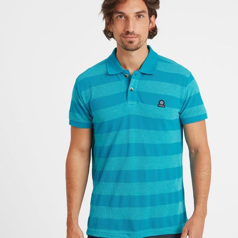 Fordon Mens Pique Polo Shirt - Blue Jewel