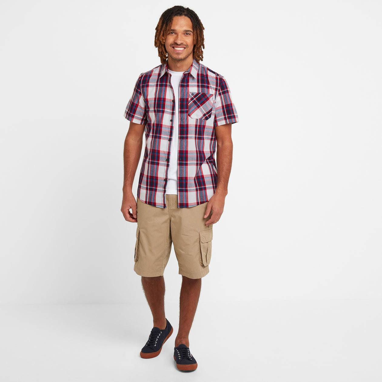 Foster Mens Check Shirt - Chilli Red image 4