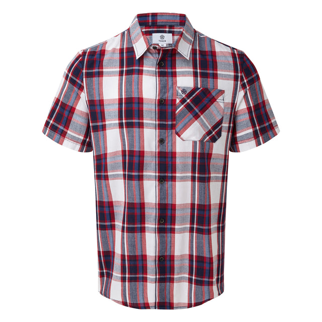 Foster Mens Check Shirt - Chilli Red image 3