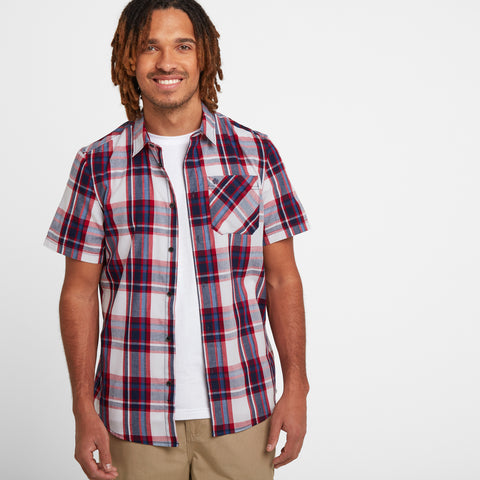 Foster Mens Check Shirt - Chilli Red