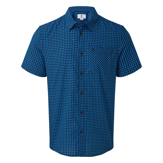 Foster Mens Check Shirt - Blue Jewel image 3