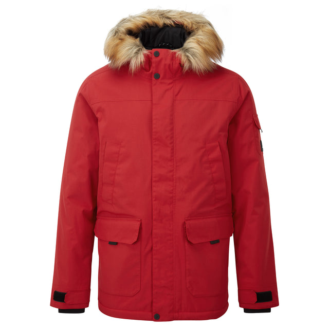 Garrick Mens Waterproof Parka - Chilli Red