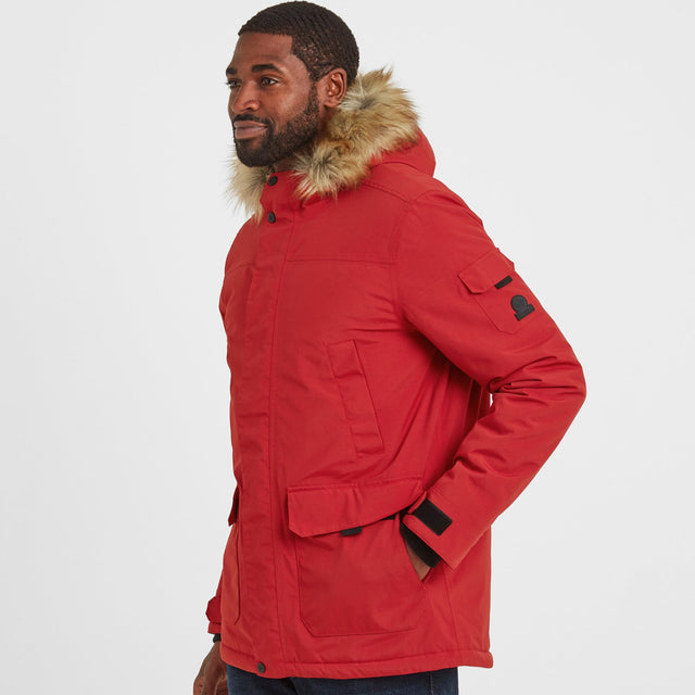 Garrick Mens Waterproof Parka - Chilli Red image 1
