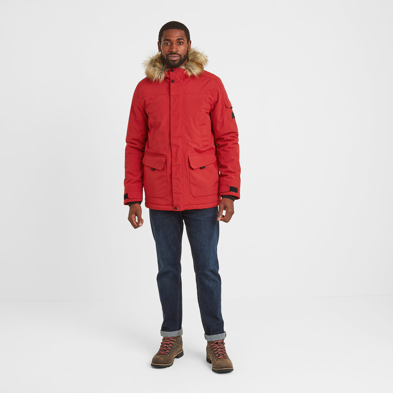 Garrick Mens Waterproof Parka - Chilli Red image 4