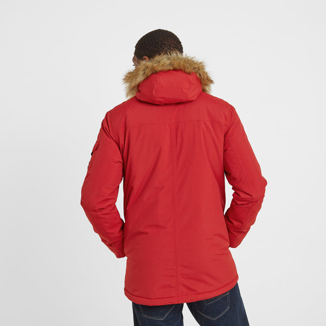 Garrick Mens Waterproof Parka - Chilli Red image 3