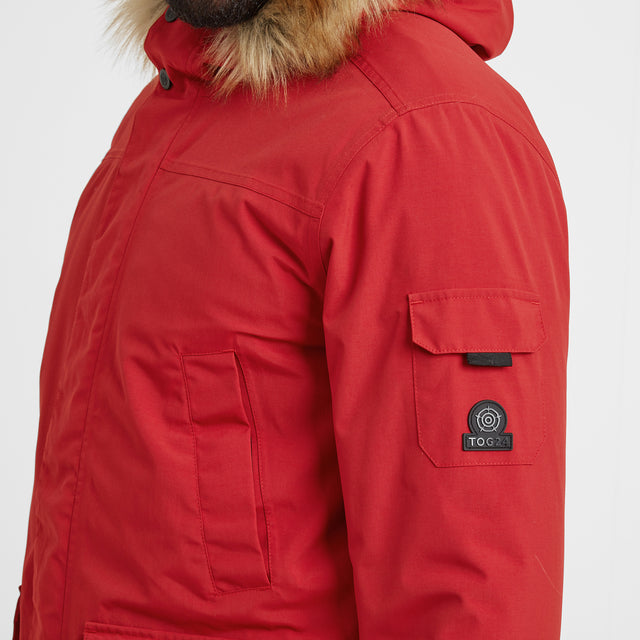 Garrick Mens Waterproof Parka - Chilli Red image 2