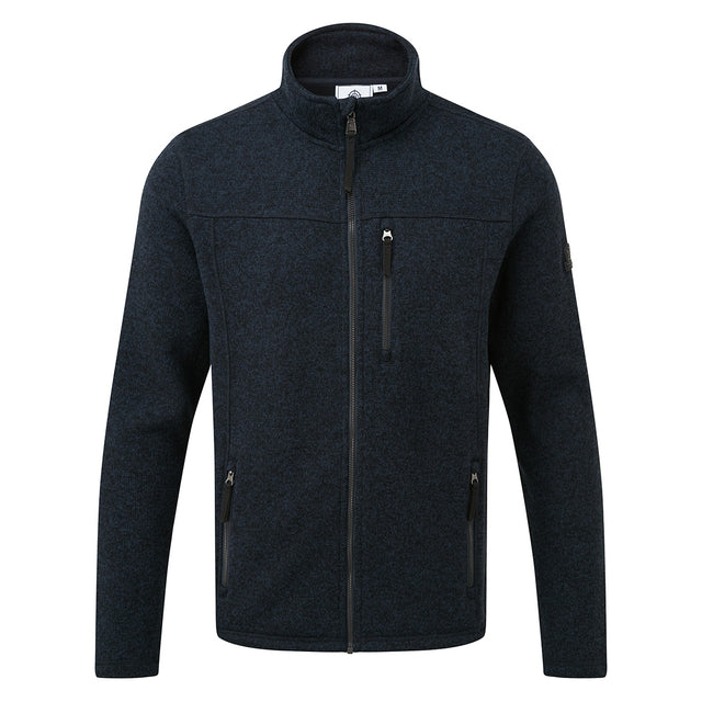 Garton Mens Knitlook Fleece Jacket - Dark Indigo Marl image 3