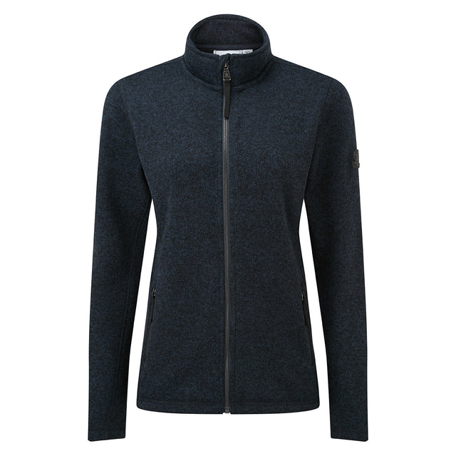 Garton Womens Knitlook Fleece Jacket - Dark Indigo image 6