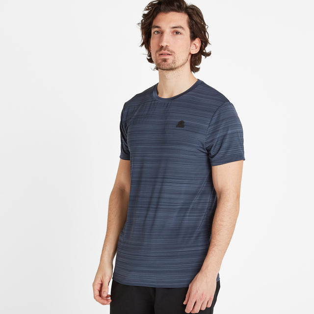 Gawber Mens Tech T-Shirt - Dark Indigo image 1