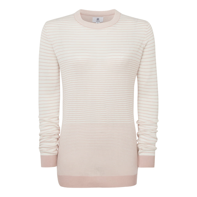 Ginny Womens Stripe Crew Jumper - Rose Pink image 3