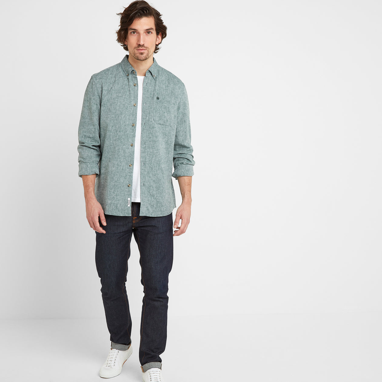 Granville Mens Long Sleeve Shirt - Forest image 4