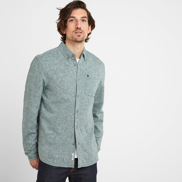 Granville Mens Long Sleeve Shirt - Forest image 1