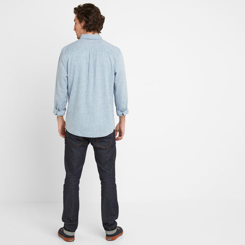 Granville Mens Long Sleeve Shirt - Sea Blue