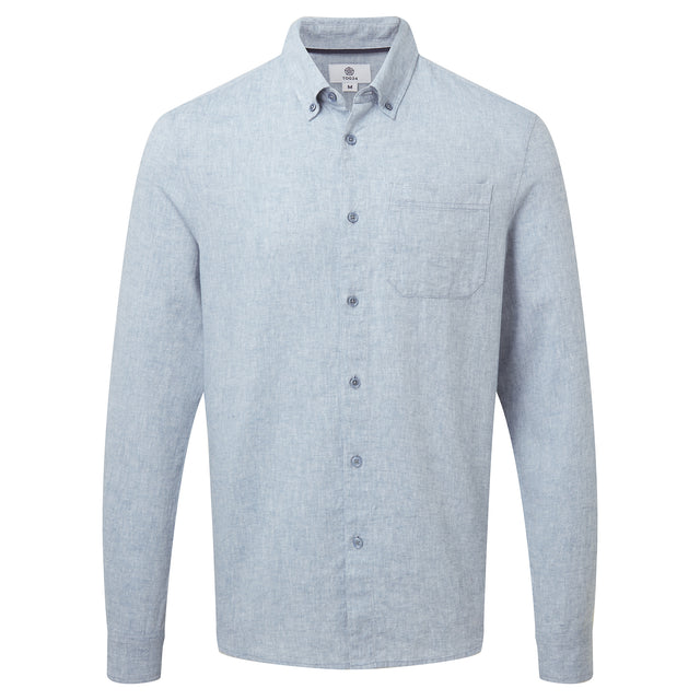 Granville Mens Long Sleeve Shirt - Sea Blue image 3