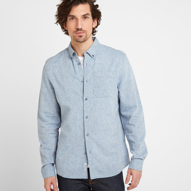 Granville Mens Long Sleeve Shirt - Sea Blue image 1