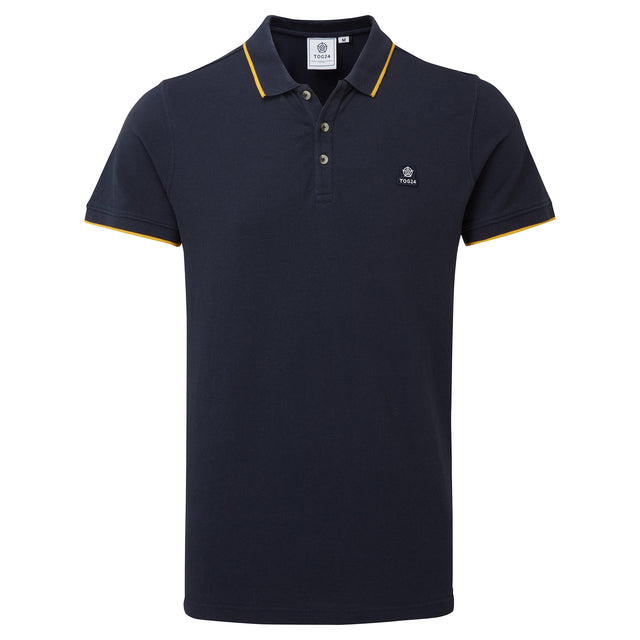 Grindale Mens Pique Polo Shirt - Dark Indigo image 3